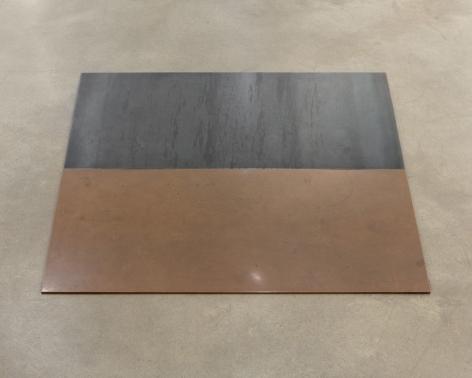 Carl Andre Steel-Copper Dipole (N/S), Düsseldorf 1973