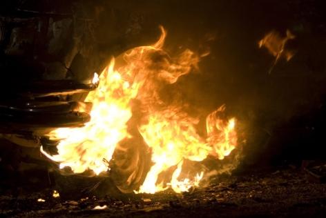 Burning Car (2008), SUPERFLEX, 2010 at Peter Blum Chelsea