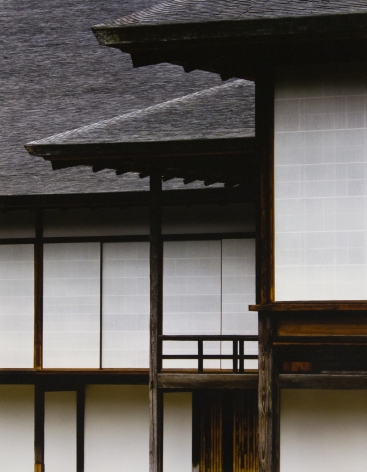 Middle Shoin, right, and the New Goten, left, viewed from the east, Broad Veranda of the Music suite in the middle, 1981