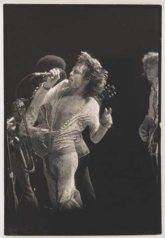 Peter Beard Mick Jagger at Madison Square Garden, 1972