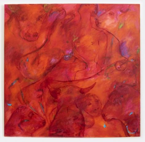 Sheila Isham Cosmic Earth 341 (Bull Series XXII), 1990