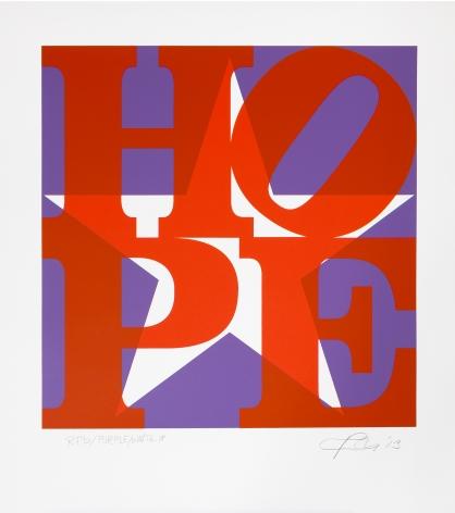 Robert Indiana STAR of HOPE (Red/ Purple/ White), 2013