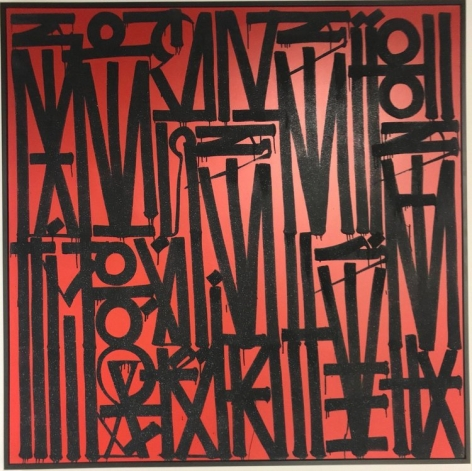 RETNA ​Untiled Red, 2017