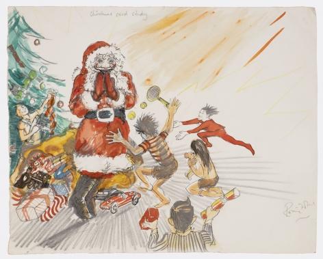 Ronnie Wood Christmas Card Study