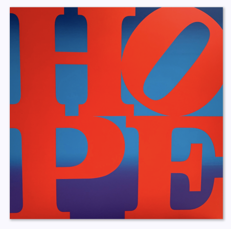 Robert Indiana HOPE Sunset Red, 2017
