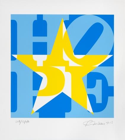 Robert Indiana STAR of HOPE (Blue/ Yellow/ White), 2013