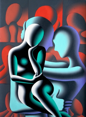Mark Kostabi Desire, time and space, 2020