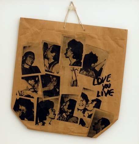 "Andy Warhol Promotional paper shopping bag for The Rolling Stones 1977 LP, ""Love You Live"" designed by Andy Warhol, 1977"