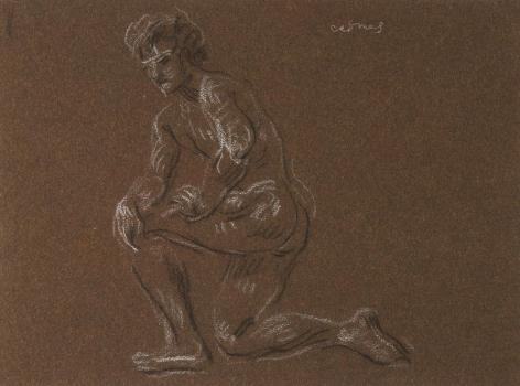 """Kneeling Male Nude"", ca. 1990-1999"