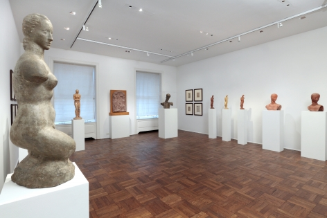 WILHELM LEHMBRUCK, Sculptures and Etchings, New York, 2012, Installation Image 4