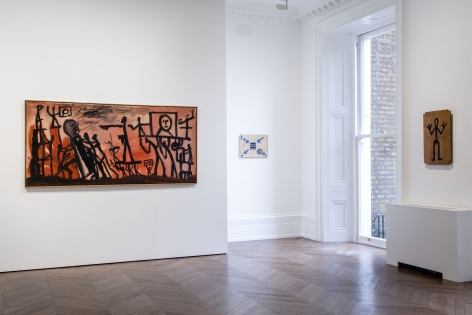 A.R. PENCK, Early Works, London, 2015, Installation Image 6