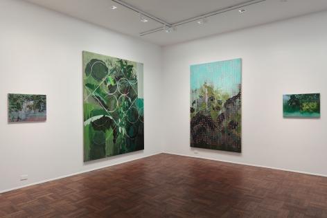 Hurvin Anderson, Subtitles, New York, 2011, Installation Image 2