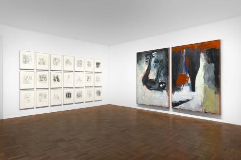 Georg Baselitz, 1977-1992, New York, 2017-2018, Installation Image 2