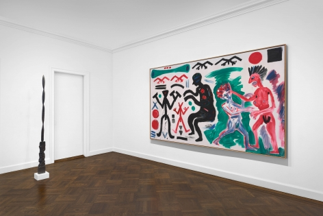 A.R. PENCK, Paintings from the 1980s and Memorial to an Unknown East German Soldier, New York, 2018, Installation Image 10