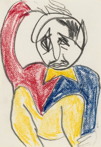 """Untitled"", 1985 Crayon, colored pencil on paper"