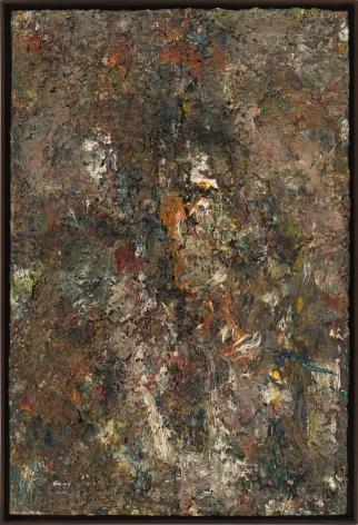 """Eugène Leroy, """"Visage gris avec lumière (Gray Face with Light)"""", 1989"""