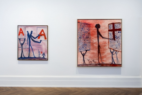 A.R. PENCK, Early Works, London, 2015, Installation Image 2