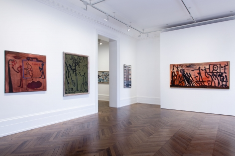 A.R. PENCK, Early Works, London, 2015, Installation Image 5