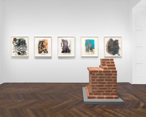 PER KIRKEBY Works on Paper, Works in Brick 20 November 2019 through 25 January 2020 UPPER EAST SIDE, NEW YORK, Installation View 16
