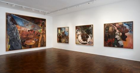 Jörg Immendorff, Café Deutschland, New York, 2014, Installation Image 1