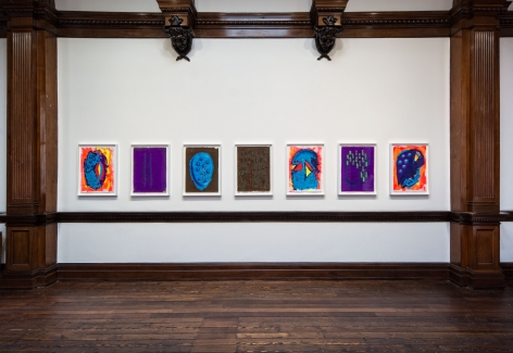 Aaron Curry, Paintings, London, 2014, Installation Image 10