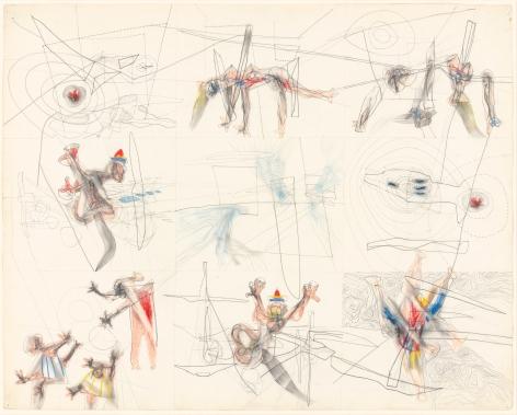 "Roberto Matta, ""Woman Impaled and Five Other Scenes"", 1943"