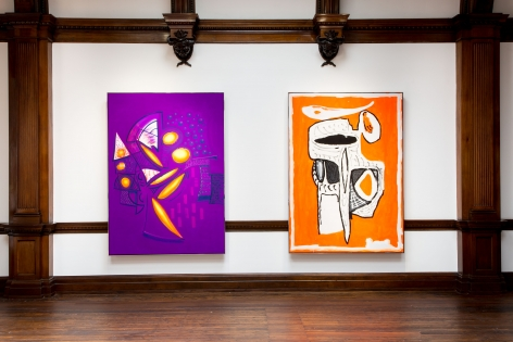 Aaron Curry, Paintings, London, 2014, Installation Image 12