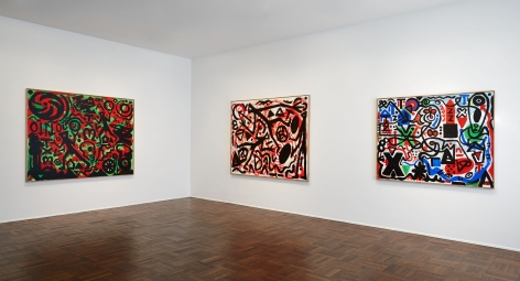 A.R. PENCK, Between Light and Shadow, New York, 2015, Installation Image 2