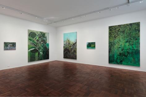 Hurvin Anderson, Subtitles, New York, 2011, Installation Image 3