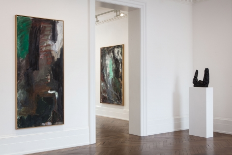 Per Kirkeby, Paintings and Bronzes from the 1980s, London, 2017, Installation Image 4