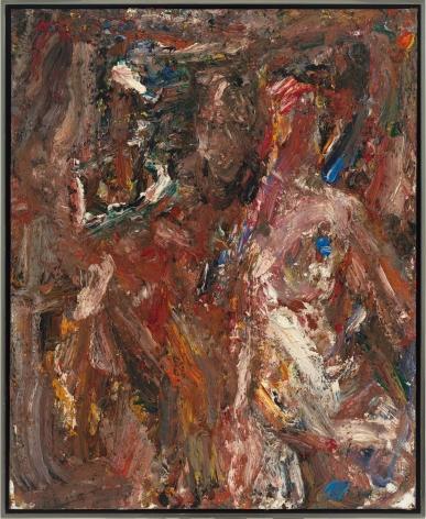 "Eugène Leroy, ""Feu du soir d'octobre (October Evening Fire)"", 1997"