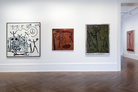 A.R. PENCK, Early Works, London, 2015, Installation Image 8