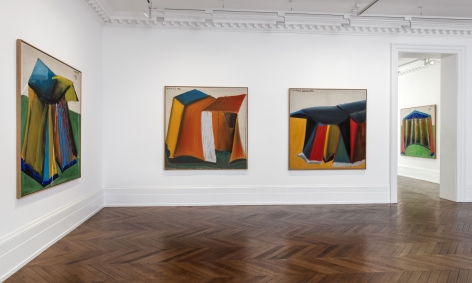 MARKUS LÜPERTZ, Tent Paintings, 1965, London, 2018, Installation Image 6