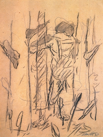 """""""Untitled"""", 1969 Pencil, crayon on paper"""
