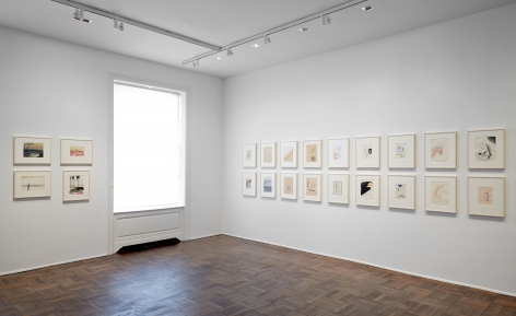 Sigmar Polke, Early Works on Paper, New York, 2014, Installation Image 7