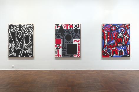 A.R. PENCK New Paintings 10 January through 9 March 2013 UPPER EAST SIDE, NEW YORK, Installation View 3