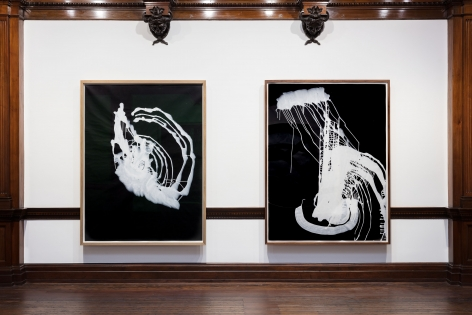 Sigmar Polke, Pour Paintings on Paper, London, 2017, Installation Image 9