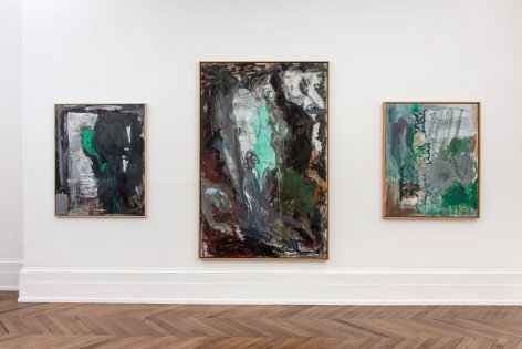 Per Kirkeby, Paintings and Bronzes from the 1980s, London, 2017, Installation Image 2