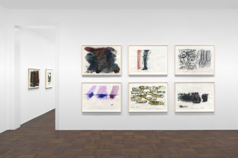 PER KIRKEBY Works on Paper, Works in Brick 20 November 2019 through 25 January 2020 UPPER EAST SIDE, NEW YORK, Installation View 1