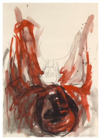 """Untitled"", 1983 Watercolor on paper"