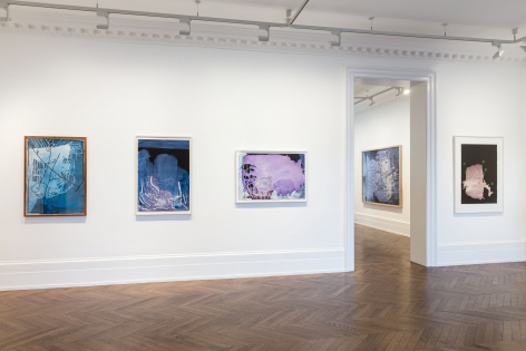 Sigmar Polke, Pour Paintings on Paper, London, 2017, Installation Image 7