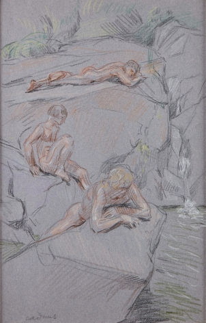 """""""Study of Bathers in the Stream"""", ca. 1978"""