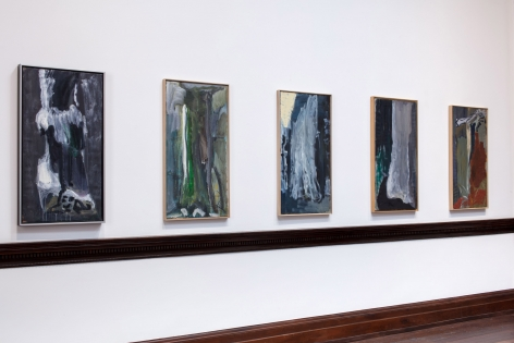 Per Kirkeby, Paintings and Bronzes from the 1980s, London, 2017, Installation Image 9