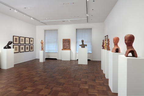 WILHELM LEHMBRUCK, Sculptures and Etchings, New York, 2012, Installation Image 11