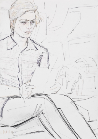 """Elizabeth Peyton, """"Klara (Train to Berlin)"""", 2011"""