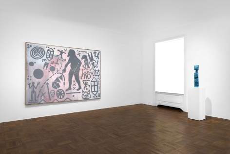 A.R. PENCK, Paintings from the 1980s and Memorial to an Unknown East German Soldier, New York, 2018, Installation Image 2
