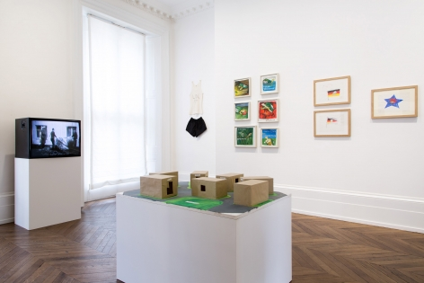 JÖRG IMMENDORFF LIDL Works and Performances from the 60s and Late Paintings after Hogarth 12 May through 2 July 2016 MAYFAIR, LONDON, Installation View 2