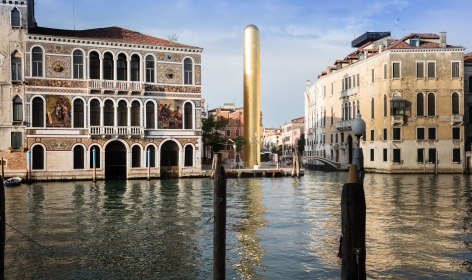 James Lee Byars, The Golden Tower, Campo San Vio, Venice, 2017, Installation Image 14