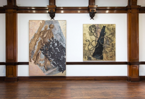 JÖRG IMMENDORFF LIDL Works and Performances from the 60s and Late Paintings after Hogarth 12 May through 2 July 2016 MAYFAIR, LONDON, Installation View 11