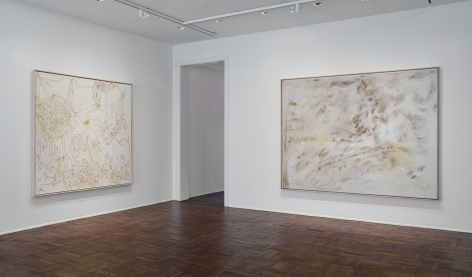 Sigmar Polke, Silver Paintings, New York, 2015, Installation Image 1